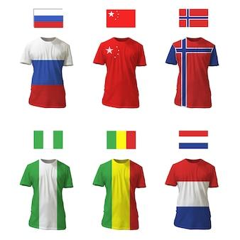 T-shirt collectie vlag ontwerp
