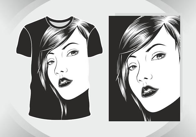 T-shirt design meisjes, geïsoleerd,