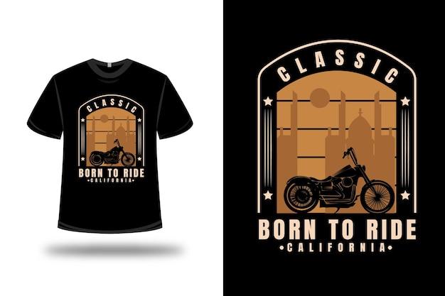 T-shirt harley classic born to ride california kleur crème