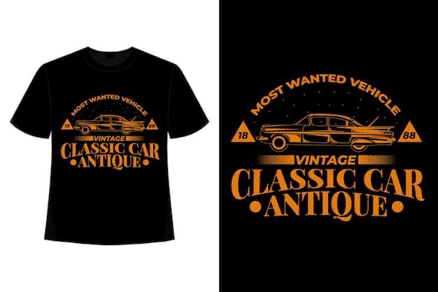 T-shirt klassieke auto antieke vintage stijl