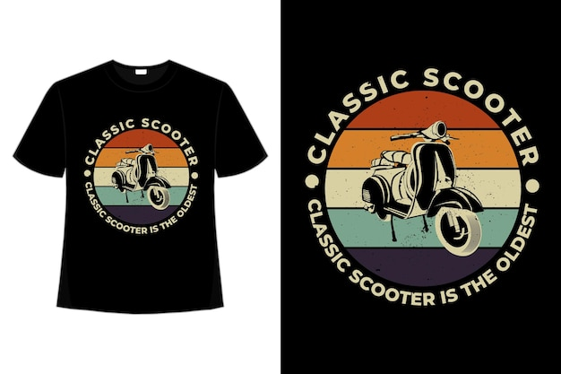 T-shirt klassieke scooter retro