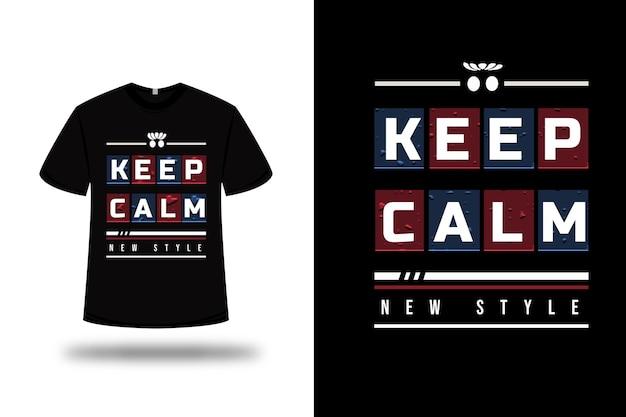T-shirt met blijf kalm nieuw stijlontwerp