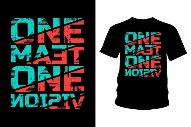 T-shirt met slogan typografie