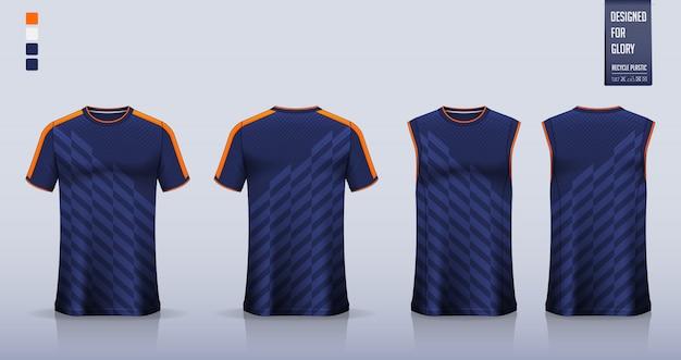 T-shirt mockup, sportshirt sjabloonontwerp voor voetbalshirt