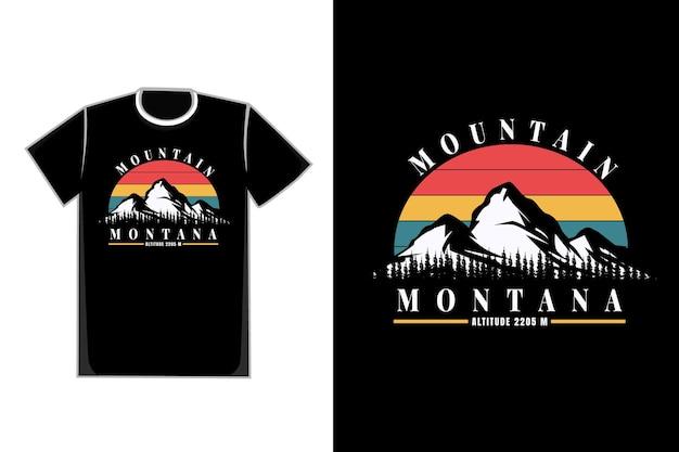 T-shirt mountain montana pijnbomen