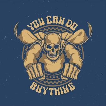 T-shirt of poster met illustratie van dode superheld
