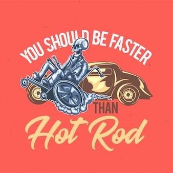 T-shirt of posterontwerp met illustratie van een oude man.