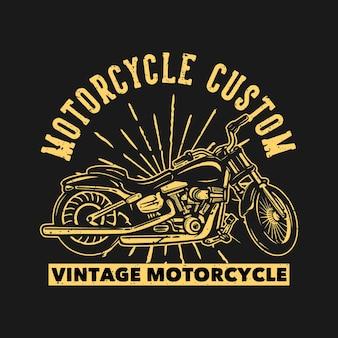 T-shirt ontwerp motorfiets aangepaste vintage motorfiets met motorfiets vintage illustratie