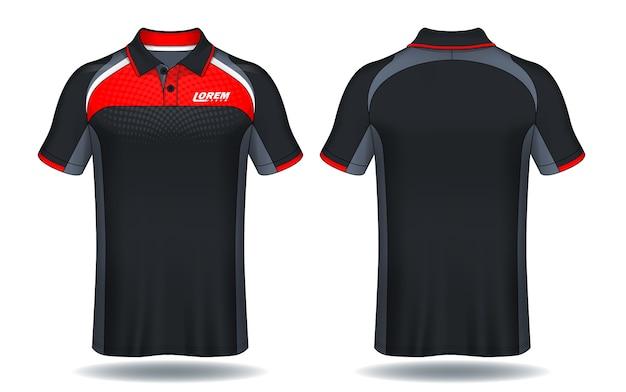 T-shirt polo ontwerp, sport jersey sjabloon.