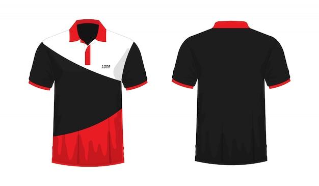 T-shirt polo rood en zwart t illustratie