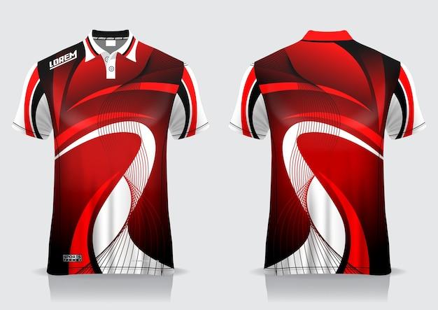 T-shirt polo sport ontwerp, badminton jersey mockup voor uniforme sjabloon