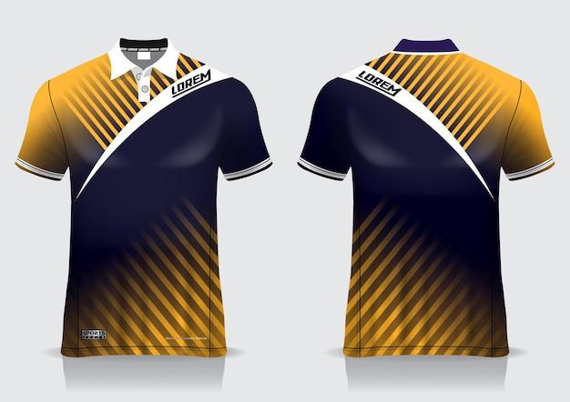 T-shirt polo voor uniforme sjabloon