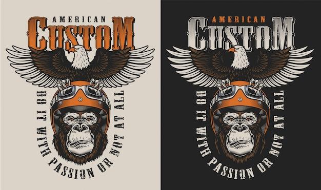 T-shirt print met gorilla concept