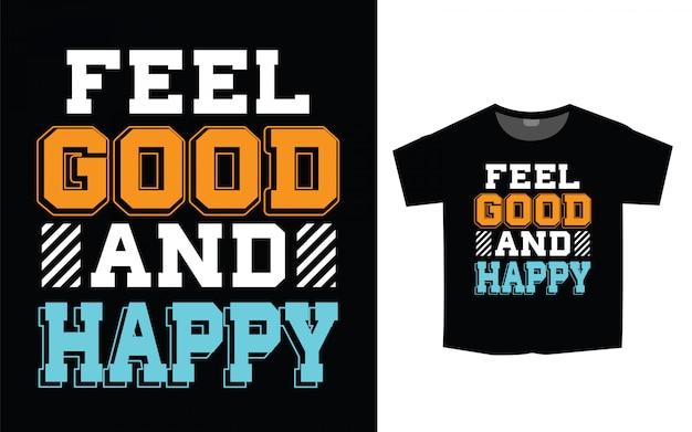T-shirt printontwerp met trendy typografische slogan