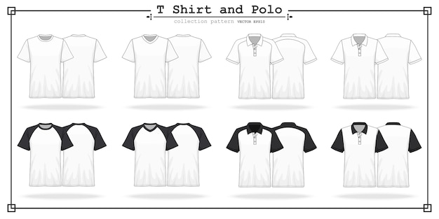 T-shirt rond en v hals