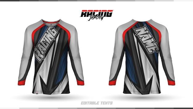 T-shirt sjabloon, ontwerp racetrui, voetbalshirt
