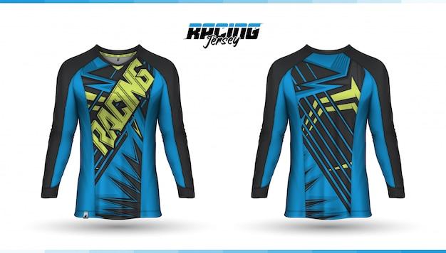 T-shirt sjabloon, race jersey ontwerp, voetbal jersey