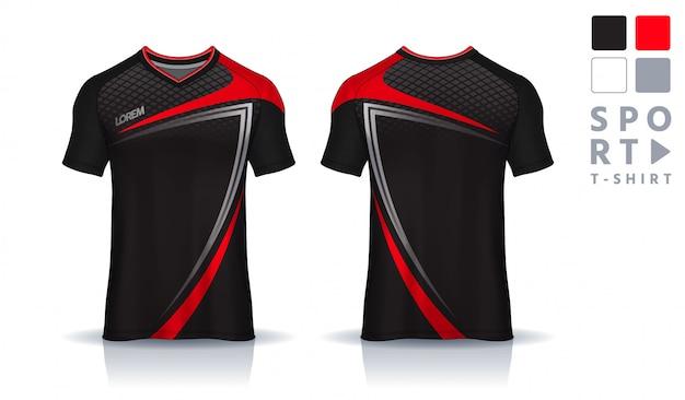 T-shirt sport ontwerpsjabloon, voetbal jersey mockup voor voetbalclub. uniform voor- en achteraanzicht.