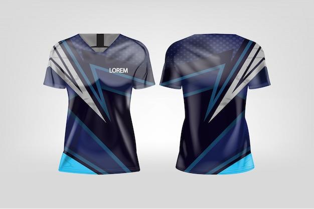 T-shirt sport voor dames, voetbal jersey voor voetbalclub.