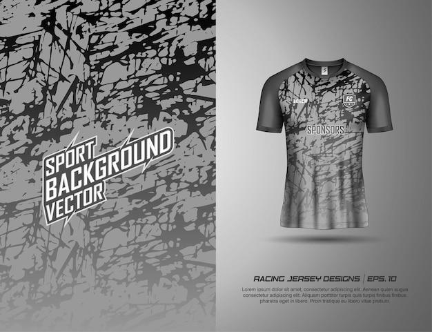 T-shirt sportontwerp voor racen, jersey, fietsen, voetbal, gaming