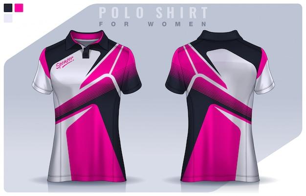 T-shirt sportontwerp voor vrouwen, voetbalshirt voor voetbalclub. polo uniform sjabloon.