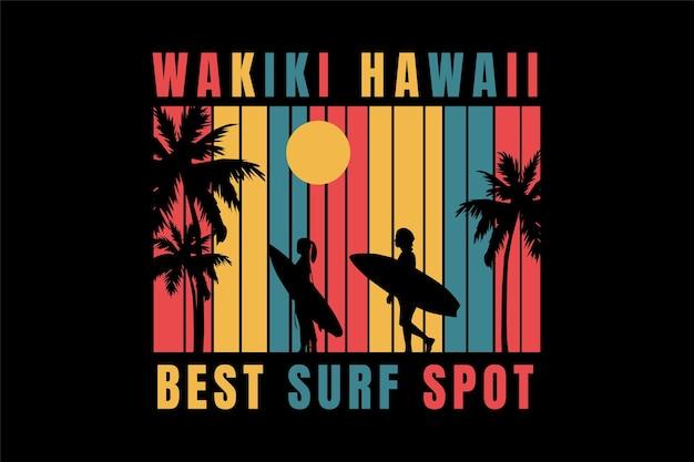 T-shirt surfen op het strand hawaï beste surfplek