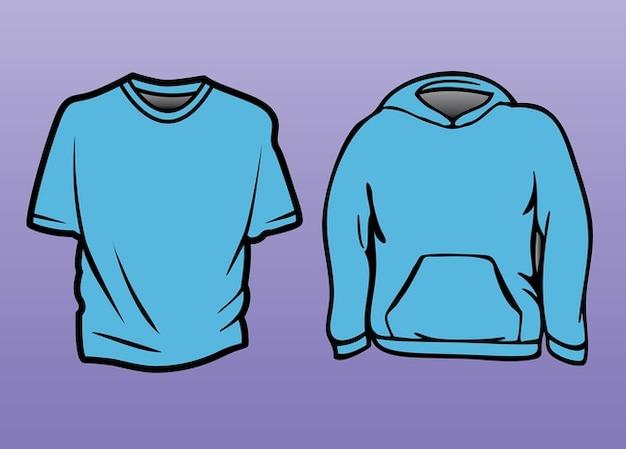 T-shirt sweater template