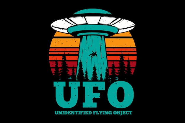 T-shirt vliegend object plan ufo