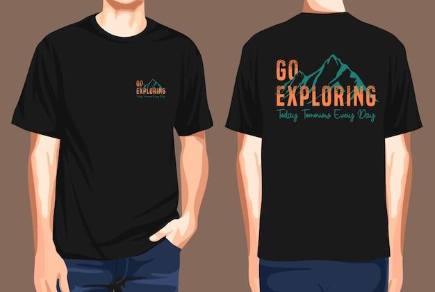 T-shirt voor- en achterkant gaan op ontdekkingstocht