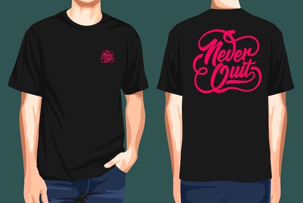 T-shirt voor- en achterkant stop nooit