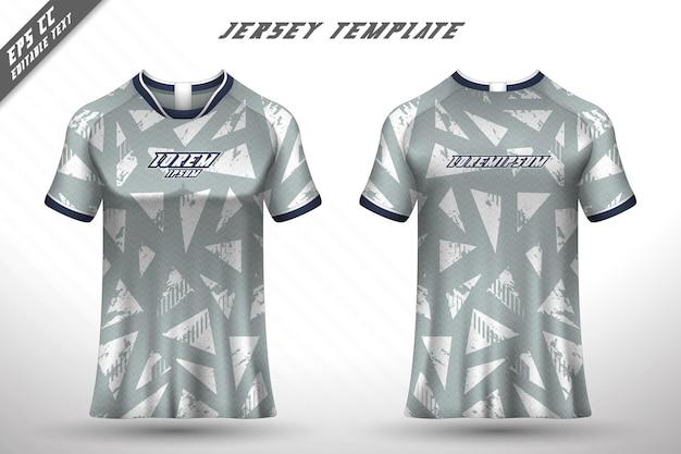 T-shirtontwerp aan de voorkant sportontwerp voor racefietsen gaming jersey vector
