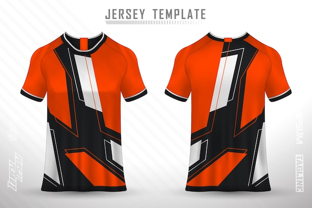 T-shirtontwerp aan de voorkant sportontwerp voor voetbalraces, wielrennen, gaming-jersey vector