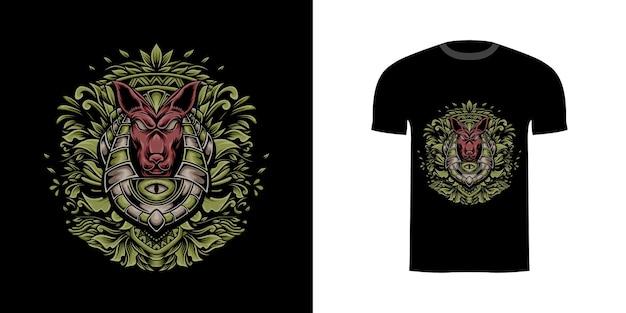 T-shirtontwerp anubis voor t-shirtontwerp
