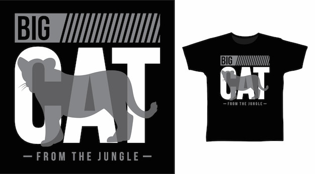 T-shirtontwerp met grote kat typografie