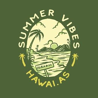 T-shirtontwerp met zomerse vibe