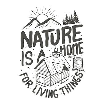 T-shirtontwerp voor berg verkennen thema