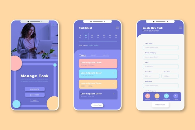 Taakbeheer app-interface