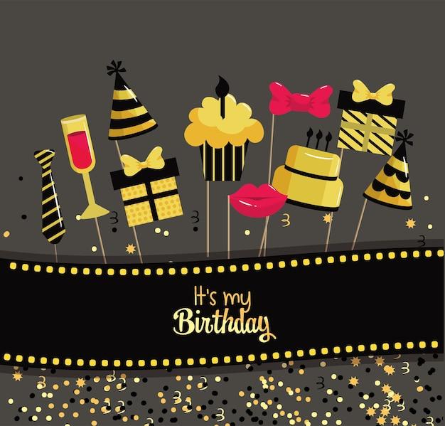Taart en cake decoratie tot gelukkige verjaardag
