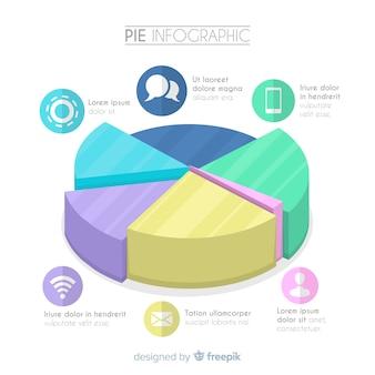 Taart infographic ontwerp
