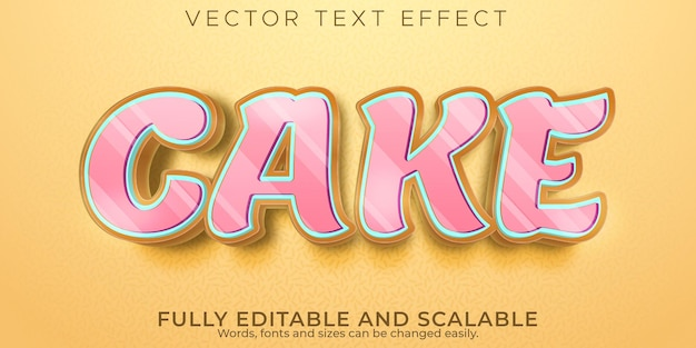 Taart teksteffect