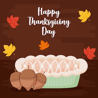 Taartappel van thanksgiving day