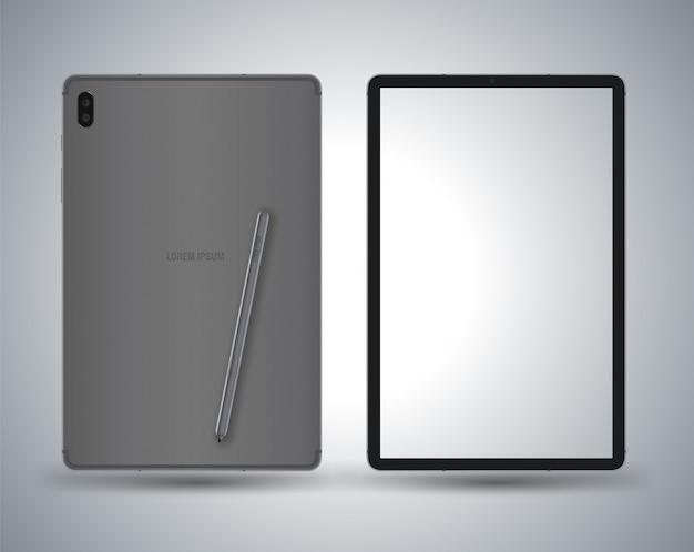 Tablet achterkant en pen