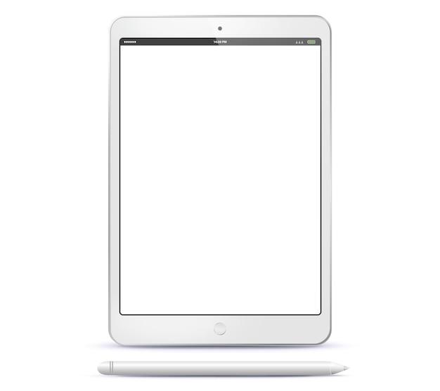Tabletcomputer en penillustratie