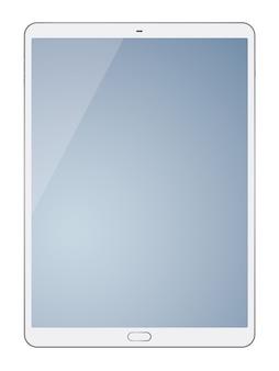 Tabletcomputer op witte achtergrond wordt geïsoleerd die