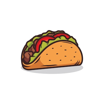 Taco illustratie