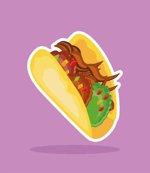 Taco mexicaans eten