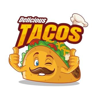 Taco stripfiguur eten