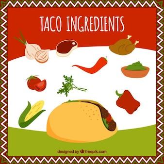 Tacos essentiële ingrediënten