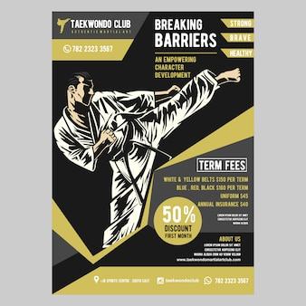 Taekwondo flyer template