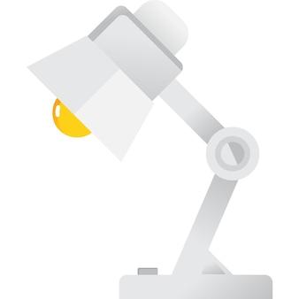 Tafellamp vector pictogram geïsoleerd op wit
